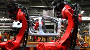 柯马机器人CHERY冲压连线现场应用展示