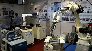 中设-OTC焊接机器人现场演示